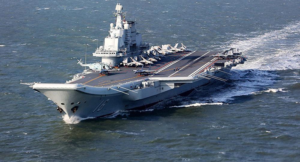 台北宣稱中國航母進入台灣海峽