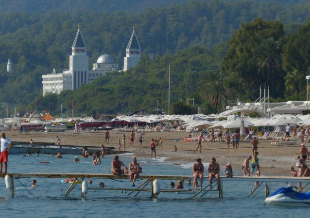俄羅斯旅客在安塔利亞