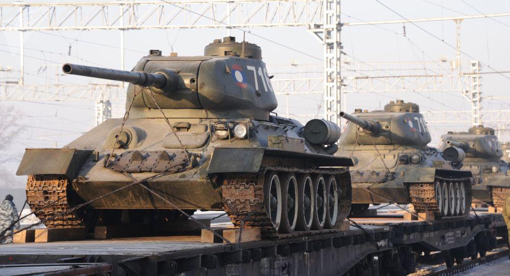 老撾向俄移交的30輛T-34坦克已運抵克拉斯諾亞爾斯克
