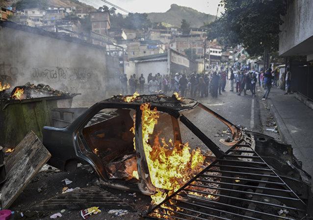 媒體:委內瑞拉首都的抗議活動擴大