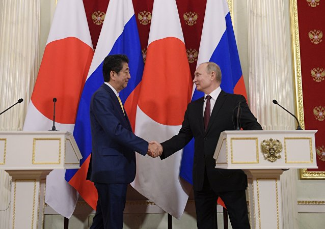 俄羅斯總統普京與日本首相安倍晉三