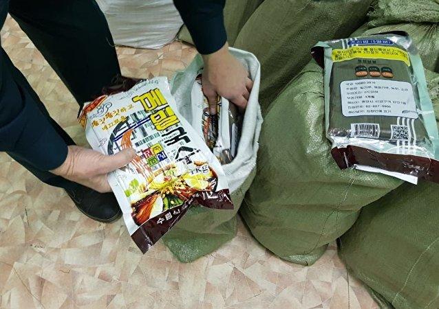 朝鮮公民試圖非法走私660公斤麵條