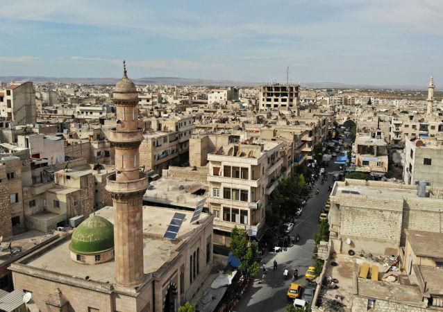 Вид на Идлиб, Сирия