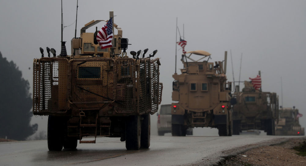 美國軍用車隊在敘利亞
