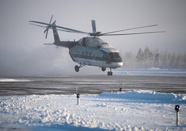 Испытания вертолета Ми-38 в условиях экстремальных морозов в Якутии
