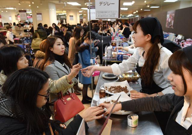 日本女性在情人節