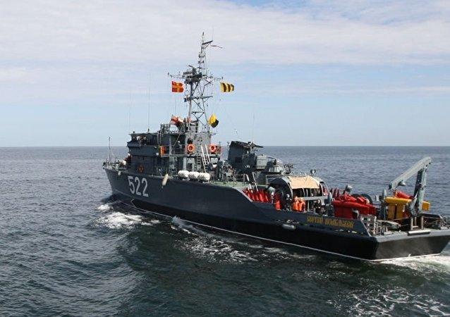 俄海軍基地掃雷艦