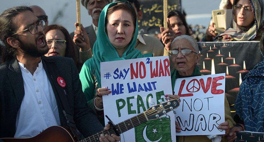巴基斯坦居民關於和平的海報
