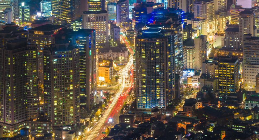 Вид на центр Сеула