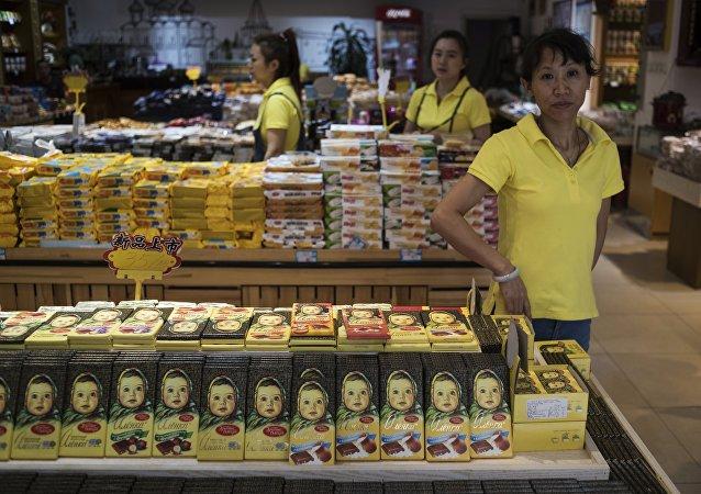 「阿廖卡」巧克力在中國非常受歡迎