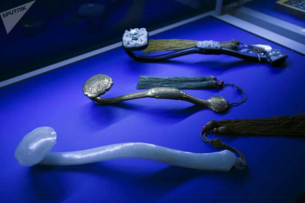 清代(1644-1911)如意手杖