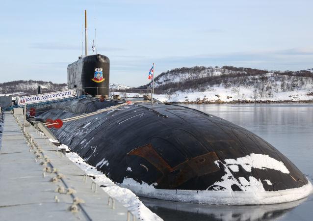 俄羅斯潛艇在巴倫支海發射反潛導彈