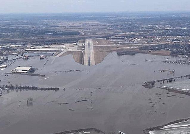 美國戰略司令部被洪水淹沒