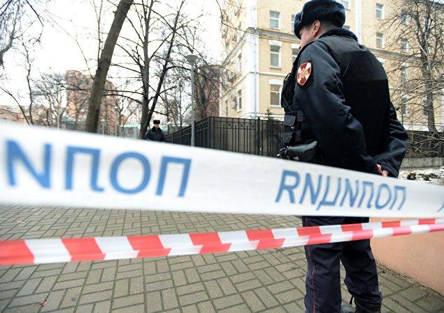 一男子在莫斯科市中心自殺身亡