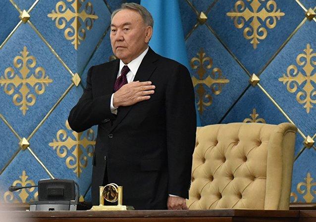 哈薩克斯坦第一任總統納扎爾巴耶夫