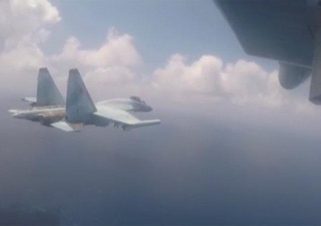 蘇-35C在敘利亞演習被拍成視頻