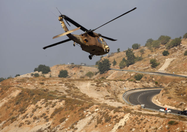 以色列直升機在戈蘭高地