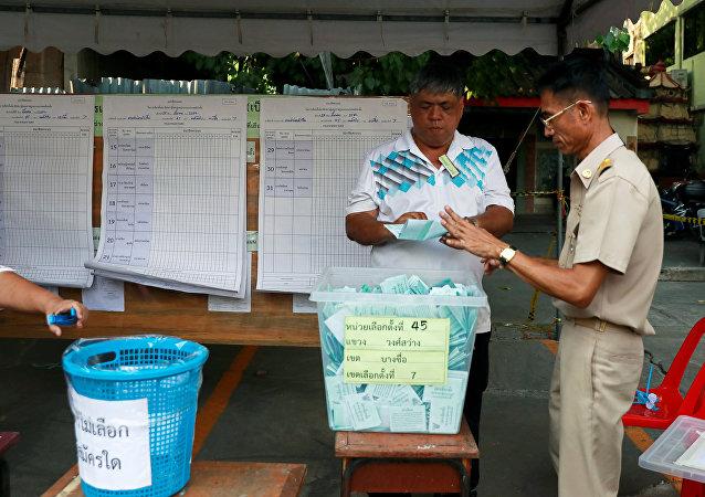 泰國統計選票票數