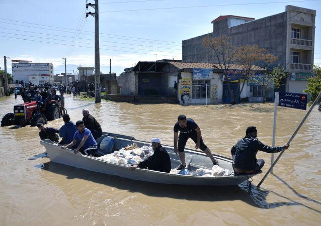 伊朗洪水(資料圖片)