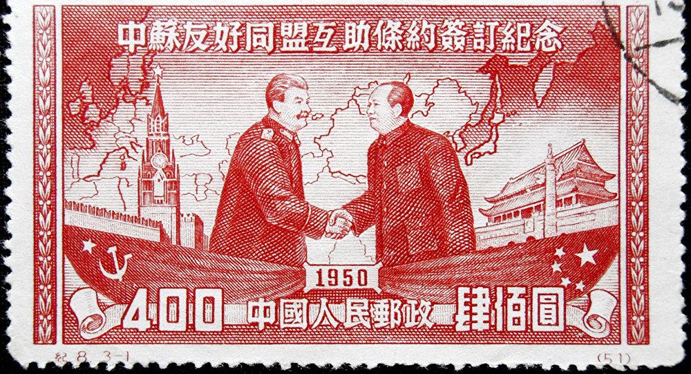 1950年的中國郵票(資料圖片)