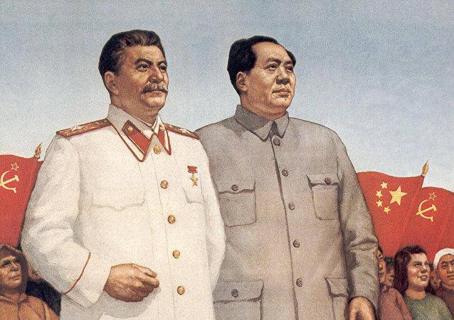 斯大林和毛澤東(資料圖片)