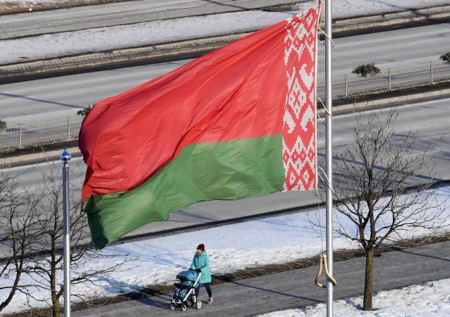 Флаг Белоруссии в Минске