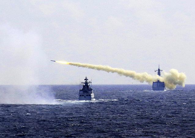 中國在南海全水域展示打擊水上目標能力