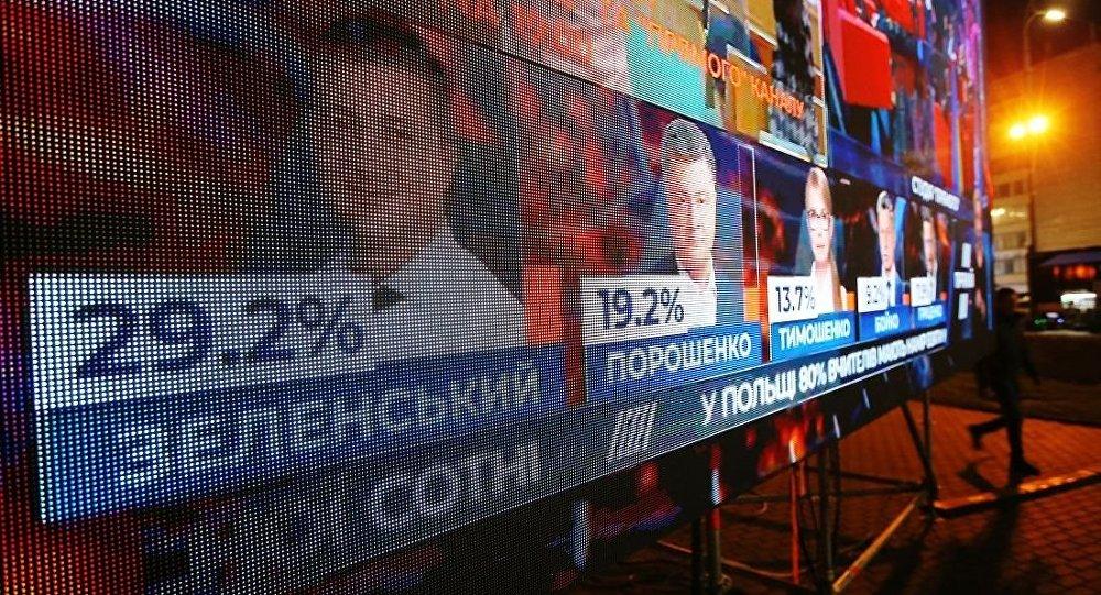 澤連斯基以30.24%的得票率贏得烏克蘭總統大選第一輪,波羅申科進入第二輪