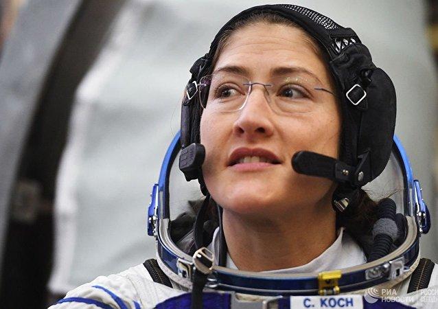 美國宇航員克里斯蒂娜·庫克
