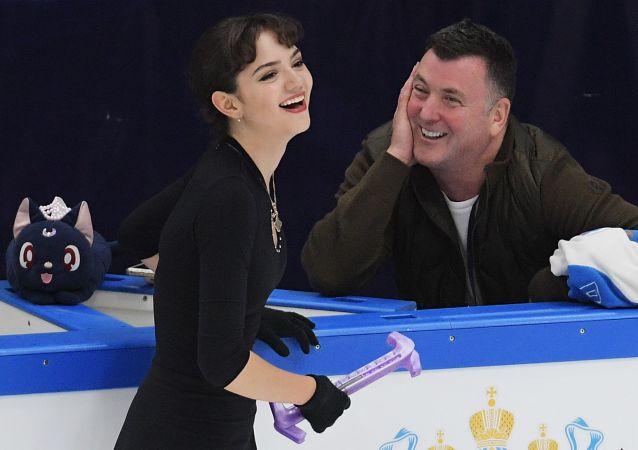 俄羅斯花樣滑冰運動員葉夫根尼婭•梅德韋傑娃