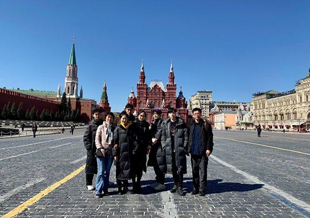 中戲師生們遊覽莫斯科著名景點紅場