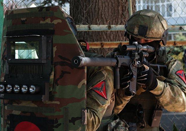 俄東部軍區分隊在遠東舉行反恐演習