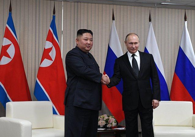俄朝領導人商定發展兩國經貿關係