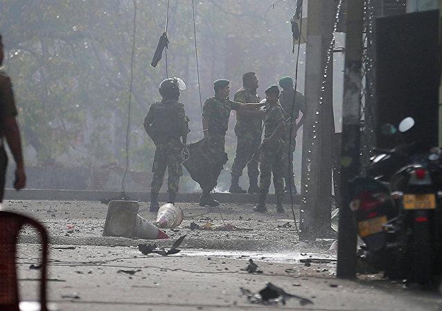 斯里蘭卡東部爆炸地區發現4具屍體 可能是自殺式襲擊者