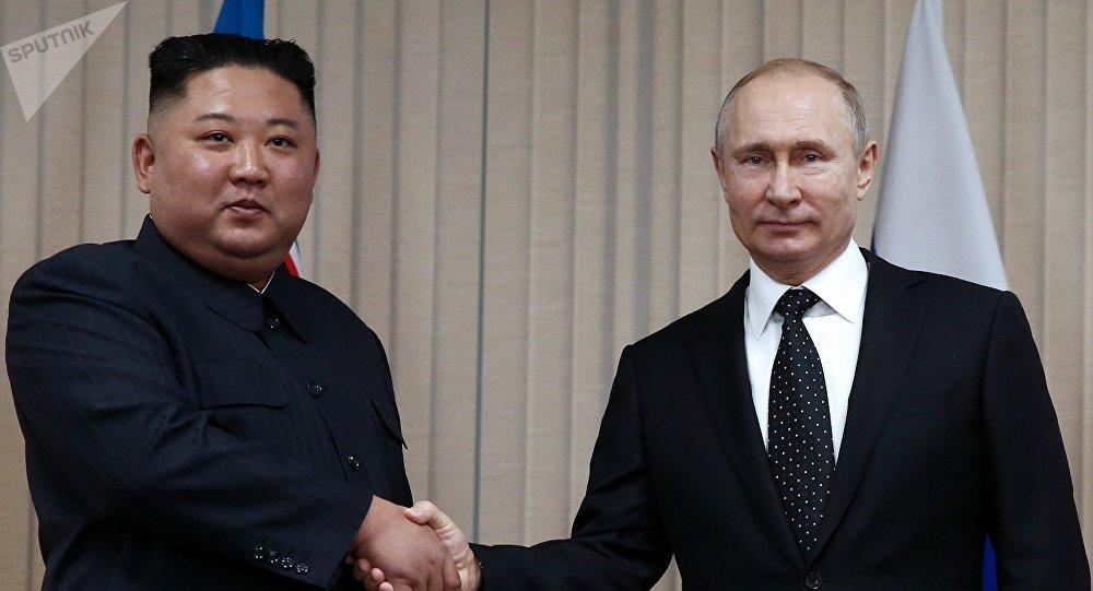 普京:與金正恩就建造輸電線路、運輸管線以及鐵路問題進行討論