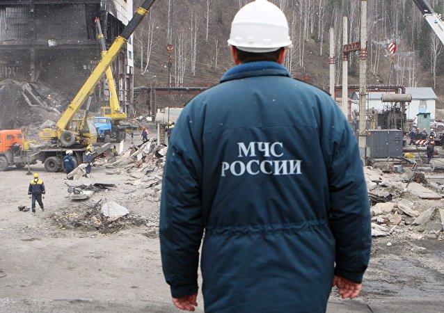 俄緊急情況部礦山救護隊隊員(資料圖片)