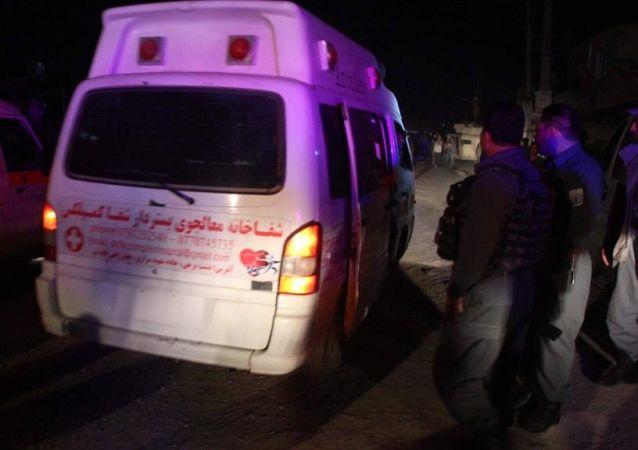 阿富汗坎大哈警局樓前的爆炸事件造成9死60傷