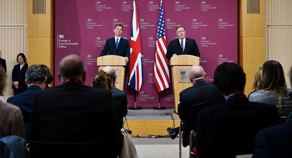 美國國務卿蓬佩奧訪英