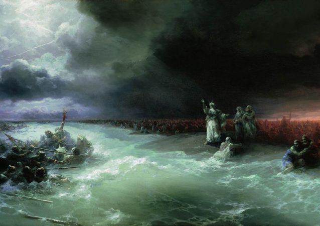 124年前沈船上發現艾瓦佐夫斯基油畫
