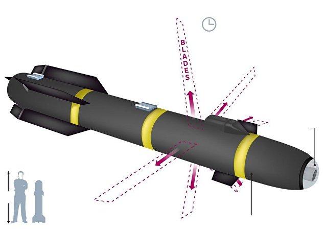 美國帶六刃斬刀片之秘密導彈的罕見照片上網