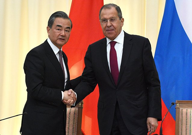 中國外長王毅與俄羅斯外長拉夫羅夫
