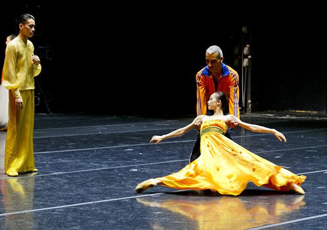 上海芭蕾舞團的彩排