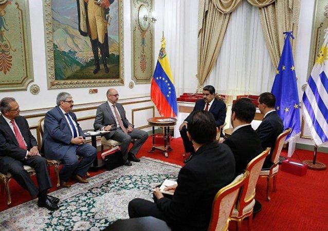 委問題國際聯絡小組代表在加拉加斯分別會見馬杜羅和瓜伊多