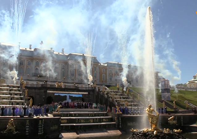 聖彼得堡夏宮噴泉節開幕儀式
