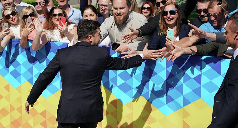 Избранный президент Украины Владимир Зеленский перед церемонией инаугурации в Киеве. 20 мая 2019