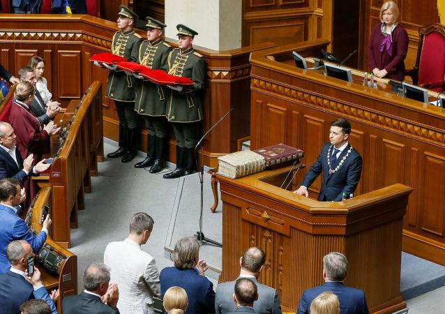 烏克蘭新當選總統宣誓並正式就職