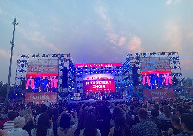 圖列茨基合唱團在北京舉辦演出
