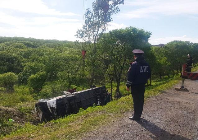 俄濱海邊疆區大巴側翻事故的中國遊客已返回中國