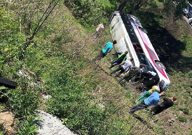 遭遇車禍的中國遊客已被安置在俄遠東一酒店