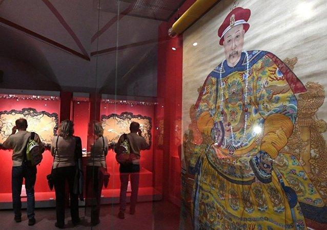 莫斯科克宮博物館舉辦的中國故宮博物院藏珍品展共接待超過12萬人